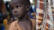 Vor der Dürre geflohen: Ein somalischer Junge in einem Aufnahmelager in Kenia