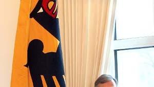 Deutsche Flagge und Köhler-Bild in Kitas