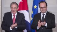 Hollande fordert Ende von Amerikas Sanktionen gegen Kuba