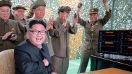Kim Jong-un bejubelt Raketenstart