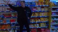 Feiern im Supermarkt