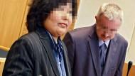 Die beiden Angeklagten im Landgericht von Mainz