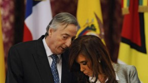 Néstor und Cristina Kirchner Anfang Oktober in Buenos Aires