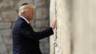 Trump besucht als erster Präsident Amerikas die Klagemauer