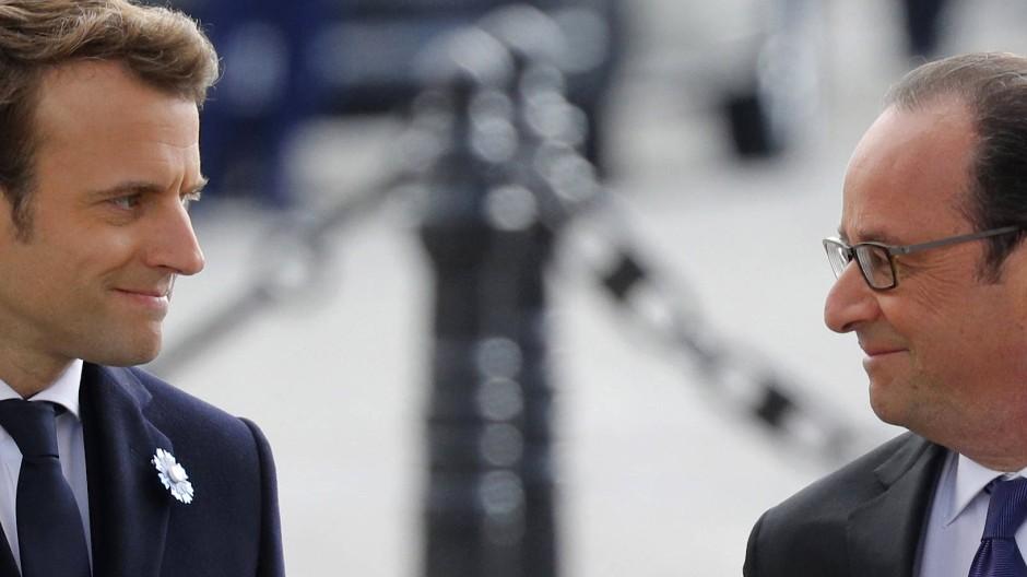 Hollande und Macron gedenken Weltkriegs-Opfer