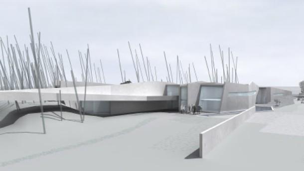 Ein Gebäude, strukturiert wie Ölschiefer