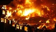 Großbrand vernichtet Luxuswohnungen