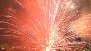 Friedliches Feuerwerk