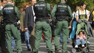 Massives Polizeiaufgebot schützt das Oktoberfest