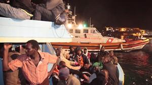 Über 1000 Menschen landen auf Lampedusa