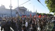 Verspätete Gegendemonstration: Wien am Mittwoch