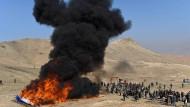 Großes Feuer in Afghanistan