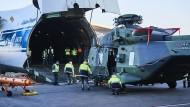 Bundeswehr-Hubschrauber auf dem Weg nach Mali