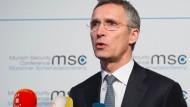 Nato-Generalsekretär fordert Ende der russischen Luftangriffe in Syrien