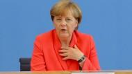 Merkel mahnt Menschenwürde an