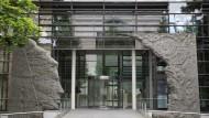 Eingang zum Hauptsitz der Max-Planck-Gesellschaft in München
