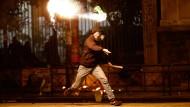 Ausschreitungen zwischen Polizei und Autonomen in Athen