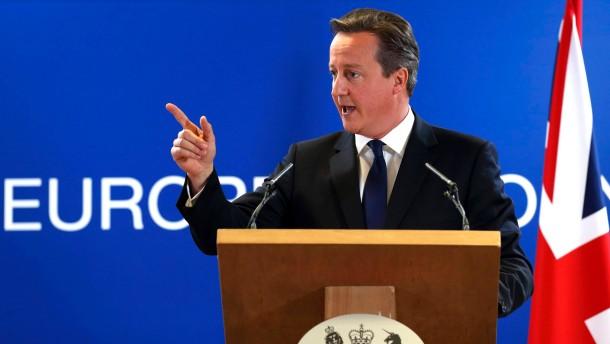 Cameron erhebt den moralischen Zeigefinger