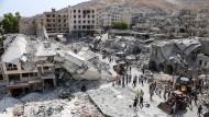 Fast 30 Tote bei Absturz von syrischem Kampfjet