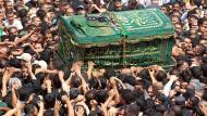 Beisetzungen im Irak nach Anschlägen vom Wochenende