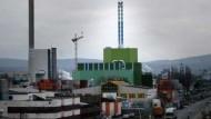 Umstritten: Auf der Ingelheimer Aue soll ein Kohlekraftwerk gebaut werden