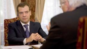 Steinmeier trifft Präsident Medwedew