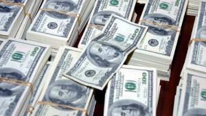 Geld aus dem Hubschrauber