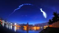 Raketenstart wird zum Himmelsspektakel