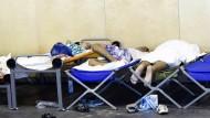 Flüchtlings-Ersterfassung in Passau