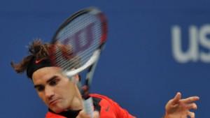 Roger Federer im Finale gegen Juan Martin del Potro