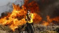 Waldbrände in der Nähe von Athen