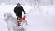 Schneestürme und Blizzards treffen Amerika