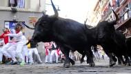 Wieder Verletzte bei Stierhatz in Pamplona