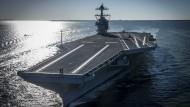 Probelauf von Amerikas neuem Flugzeugträger