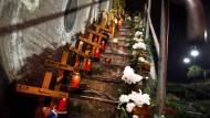 Gedenken an das Unglück auf der Loveparade