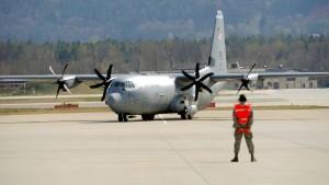 Leiche in amerikanischer Militärmaschine entdeckt
