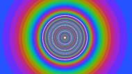 """Aristotelische Sphären bildeten sich in einer Computersimulation, die britische Forscher mit den Physik-Ideen des Robert Grosseteste fütterten. In diesem Fall sind es etliche Himmelskreise zu viel, aber bei bestimmten Parametern erhält man tatsächlich die neun """"perfekten"""" Sphären, aus denen der mittelalterliche Gelehrte den Kosmos aufgebaut sah - und in der Mitte den unvollkommenen Erdkreis."""