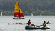 Schmückt heutzutage den Vulkan: der Laacher See