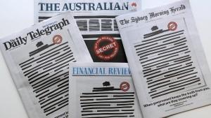 Schwarze Titelseiten in Australien