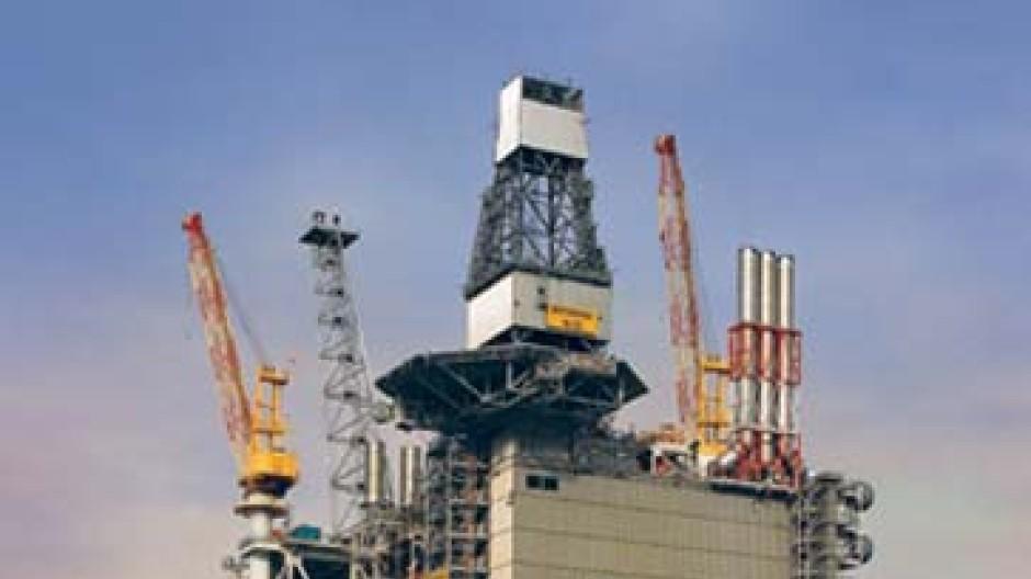 Öl-Förderplattform von ConocoPhillips in der Nordsee