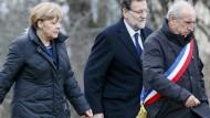 Merkel am Unglücksort: Es ist eine Tragödie
