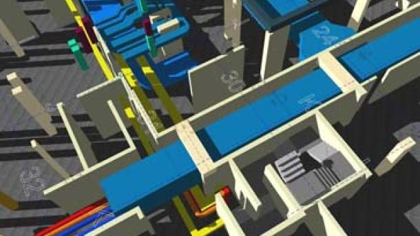 Der Computer baut dreidimensionale Modelle
