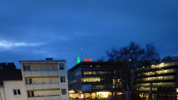 Blick in die U-Bahn Baustelle am Kölner Heumarkt