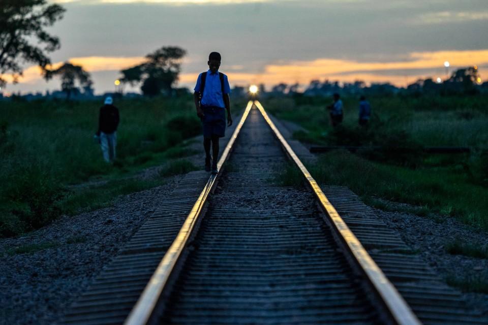 Lichtblick - der Zug kommt.
