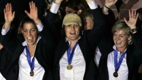 Fußball-Weltmeisterinnen feiern in Frankfurt