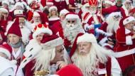 Welt-Konferenz der Weihnachtsmänner