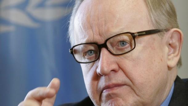 Friedensnobelpreis für den Finnen Ahtisaari