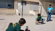 Schulanfang in befreiter IS-Hochburg Manbidsch