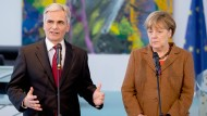 Deutschland und Österreich demonstrieren Einigkeit in Flüchtlingsfrage