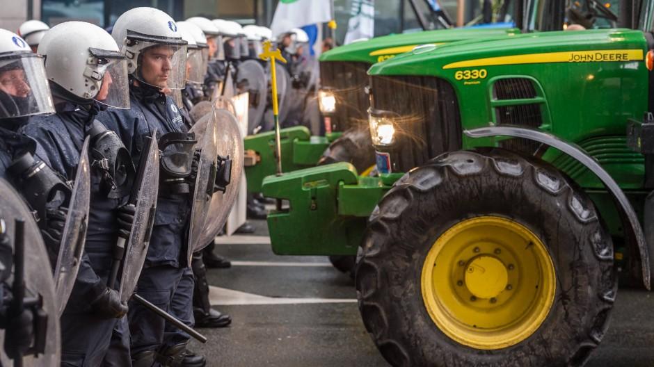 Milchbauern protestieren in Brüssel